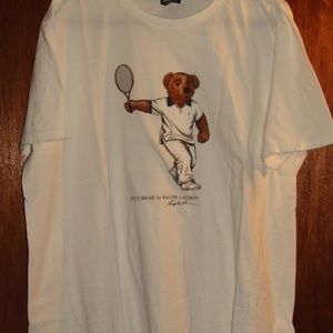 Polo by Ralph Lauren Shirts - POLO by RALPH LAUREN TENNIS BEAR T-SHIRT SIZE XL